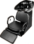 Pibbs 5274ALB Loop Backwash Black Bowl with Leg Rest