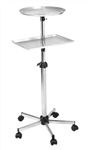 ART68 Round and Square Tray Stand-About on Wheels