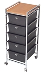 Pibbs D28WD 5 Tier Cart with ART69 Topper WD(wood)