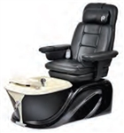 Pibbs PS60-6 Siena Turbo Jet Pedi Spa - Vibration Massage (Black - Vibration Only)