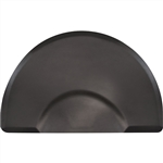 "Elite Series 3/4"" Original Black Anti-Fatigue Salon Mat 3' x 4.5'    Round  SS3045C75"