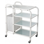 Dual 4 Tier Wax Glass Trolley  - USA-1031