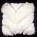 Chevron Sheepskin Pillow