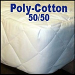 Poly Cotton 50/50 Round Mattress Pad
