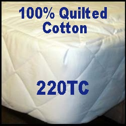 100% Cotton Quilted Ultra Plush Round Mattress Pad