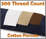 300TC Cotton Percale Body Pillow Case