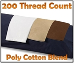 200TC 50/50 Poly Cotton Percale Body Pillow Case