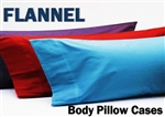 100% Cotton Flannel Body Pillow Case