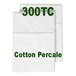 300TC Poly Cotton Percale Pillow Case Set