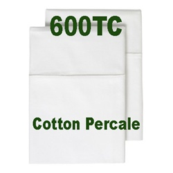600TC Cotton Percale Pillow Case Set