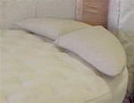 Semi-Round Polyester Pillow