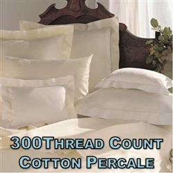 300TC Cotton Percale Pillow Shams