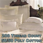 200TC 50/50 Poly Cotton Percale Pillow Shams