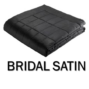 Bridal Satin Round Coverlet