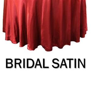 Bridal Satin Round Bedskirt