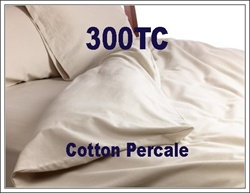300TC Cotton Percale Round Duvet Cover