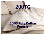 200TC 50/50 Cotton Percale Round Duvet Cover