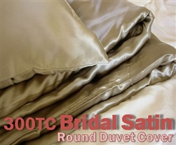 Bridal Satin Round Duvet Cover