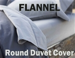 Flannel Round Duvet Cover