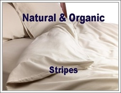 Natural & Organic Stripped Round Duvet Cover
