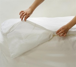 Allersoft Cotton Dust Mite + Allergy Round Duvet Encasement