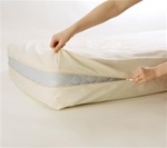 Alexandrine Organic Cotton Dust Mite + Allergy Round Mattress Encasement