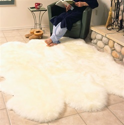 Six Pelt Sheepskin Rug