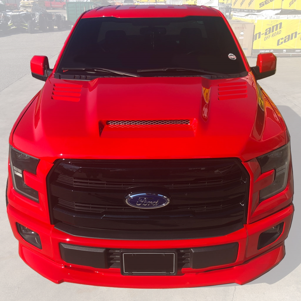 2015 Ford F150 Custom Fiberglass Ram Air Hood