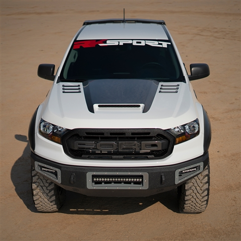 2019-Up Ford Ranger V2 CF Blister Ram Air Hood