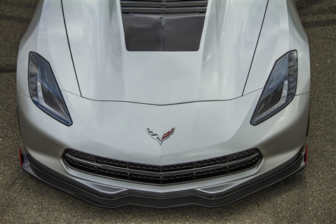 14 Up Corvette Stingray Front Splitter - CF
