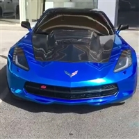 C7 Supercharger Extractor Hood with Carbon Fiber Top Finish