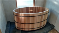 Western Red Cedar Oval Tub