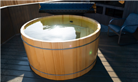 Round Alaskan Yellow Cedar Hot Tubs - Robert's Hot Tubs