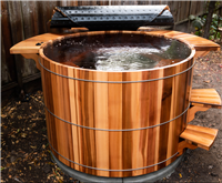 Western Red Cedar Round Hot Tub