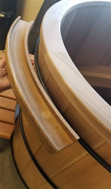 Western Red Cedar Tub Capping