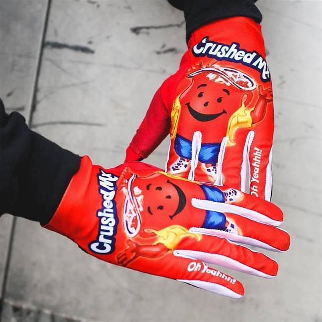 Cherry Red Crushed Gloves