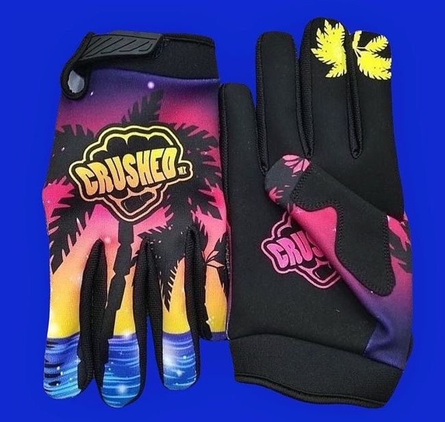 Tropical Sunset Crushed Gloves