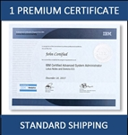 One IBM Premium Certificate: Printed on parchment with embossed certification seal. Shipping with tracking included.