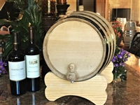 20 Liter Oak Barrel with Black Steel Hoops