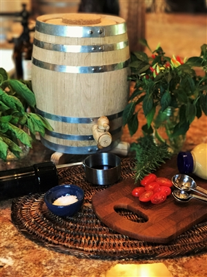 5 Liter Oak Vinegar Barrel - Toasted