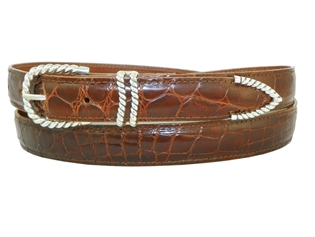 Cognac Alligator Belt