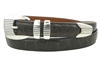 "Alligator Belt with 1 "" Sterling Silver Monterey Buckle Set"