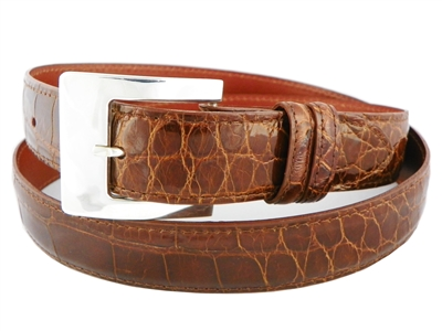 "Alligator Belt with 1 3/16"" Sterling Silver Catalina Buckle"