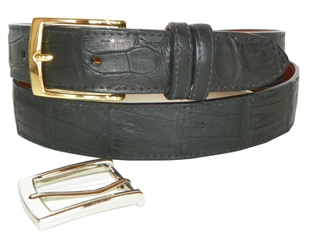 "Crocodile Belt 1 3/16"" with 2 Classic Buckles"