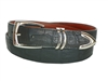 "Crocodile Belt 1 3/16"" with Scottsdale Silver Plated Buckle Set"