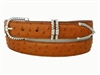 "Ostrich Belt with 1 3/16"" Sterling Silver Tucson Buckle Set"