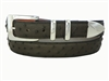 "Ostrich Belt with 1 3/16"" Sterling Silver Manhattan Buckle Set"