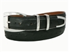 "Ostrich Belt with 1 3/16"" Sterling Silver Sierra Vista Buckle Set"