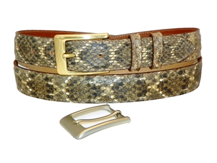 "Rattlesnake Belt 1 3/16"" with 2 Classic Buckles"