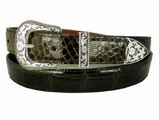 "Alligator Belt 1 1/2"" with Taos Buckle Set"